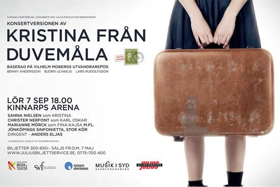 A concert version of 'Kristina från Duvemåla' will take place in Jönköping this September