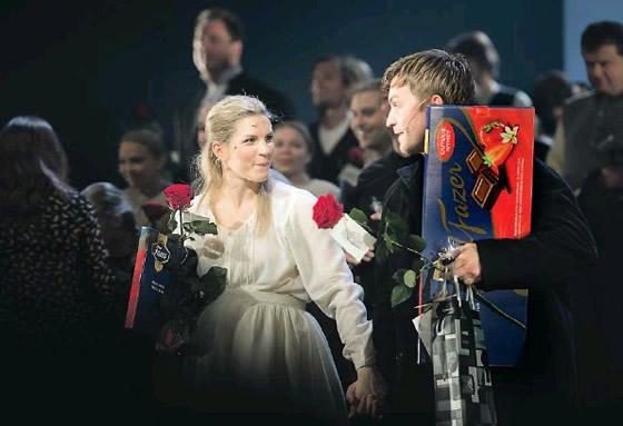 Maria Ylipää and Robert Noack after the final performance - Photo: Niklas Tallqvist