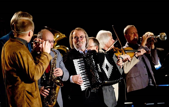 Benny Andersson and his orchestra performing at a private event for Kungliga Musikhögskolan - Photo: Stefan Nilsson