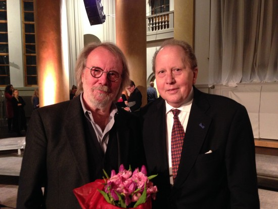 Benny and Gustaf at the Jubileumskonsert in November 2014