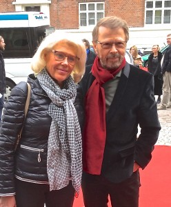 Björn and wife Lena on the red carpet